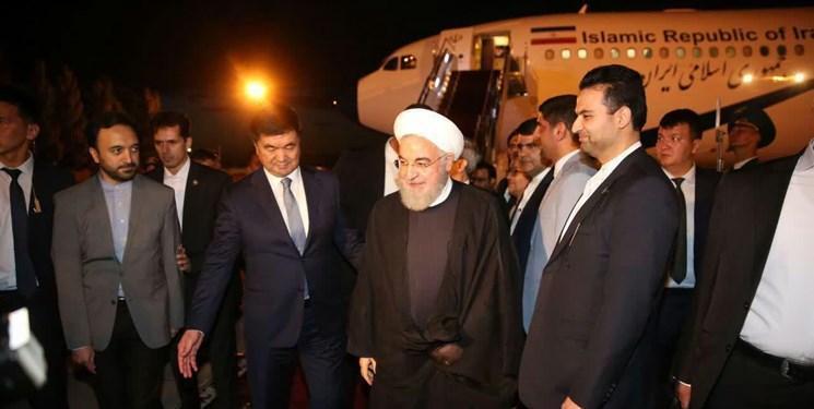 روحانی وارد پایتخت قرقیزستان شد