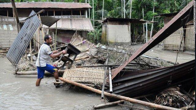 وقوع سیلاب های مرگبار در جنوب چین