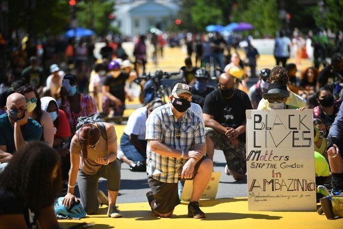 تظاهرات مردم آمریکا علیه نژاد پرستی ادامه دارد