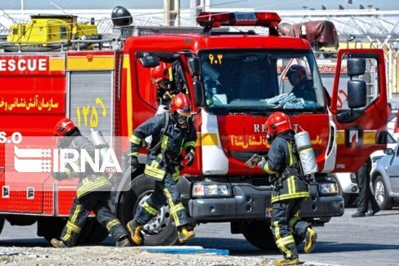 خبرنگاران آتش سوزی در بیمارستان درحال ساخت قم مهار شد
