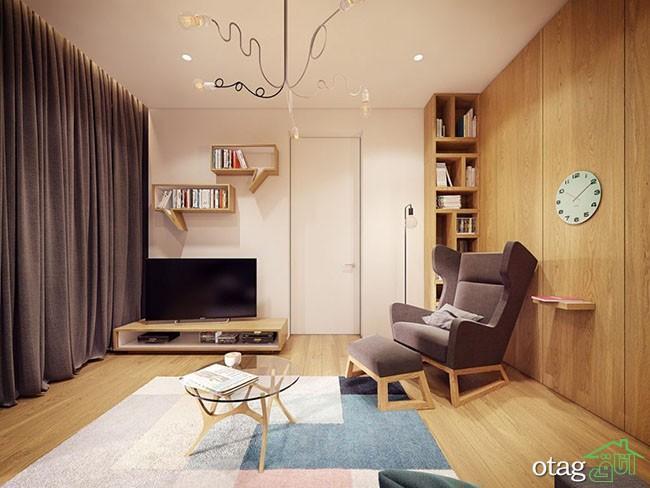 طراحی دکوراسیون داخلی منزل لوکس مناسب خانواده سه نفره