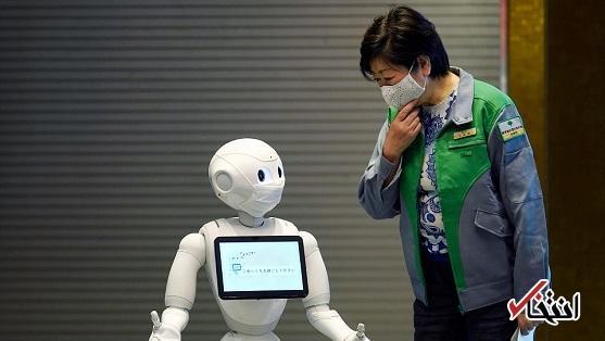 استخدام ربات در فروشگاه ژاپنی برای کنترل ماسک