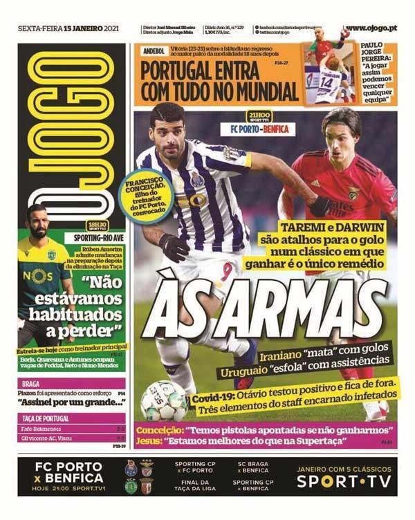 طارمی روی جلد دو روزنامه پرتغالی ، مهاجم ایران علیه آمار کلاسیکو