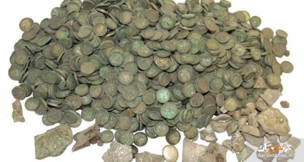 کشف هزاران سکه تاریخی در یک مزرعه ذرت
